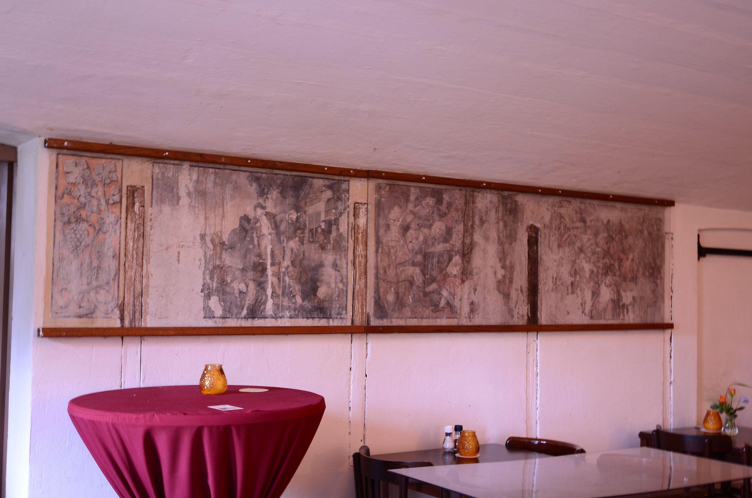 Wandschilderingen kantine Fort Bezuiden
