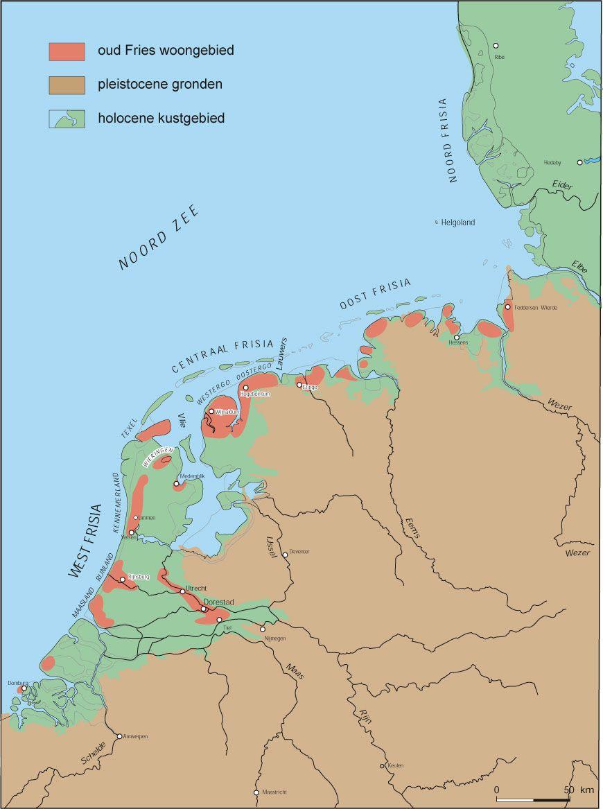 Kaart van Frisia.
