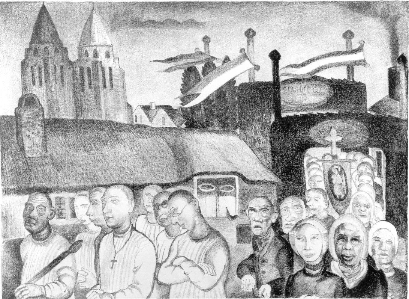 Herman Kruyder, Sint Jansprocessie, ca. 1927-1929.