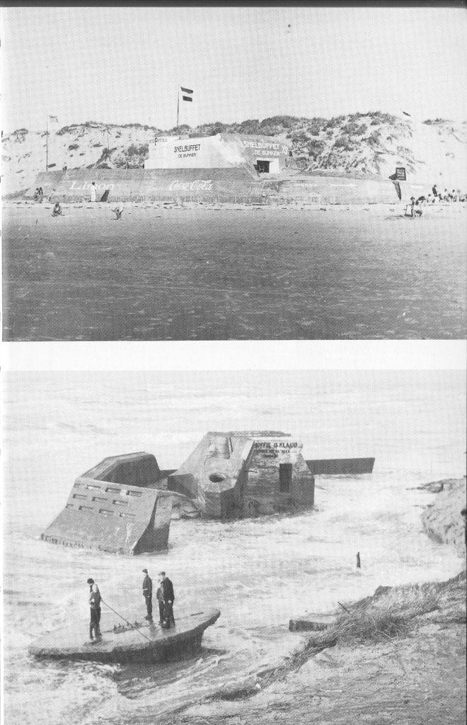 Foto: Bunkers strandslag De Koog paal 20
