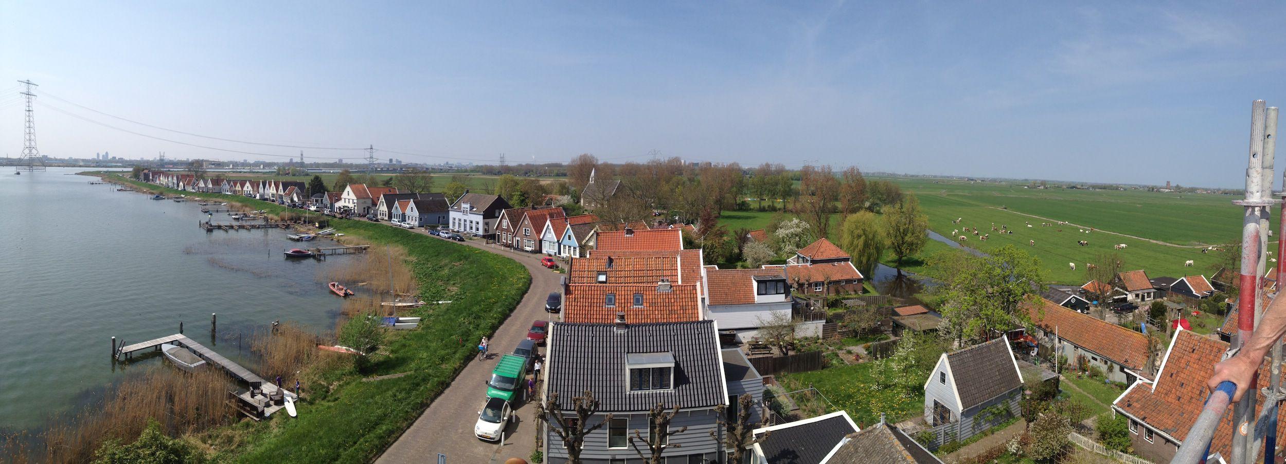 Uitzicht Kapel Durgerdam.