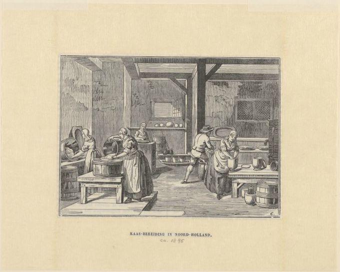 'Kaas-bereiding in Noord-Holland' in vroeger eeuwen.