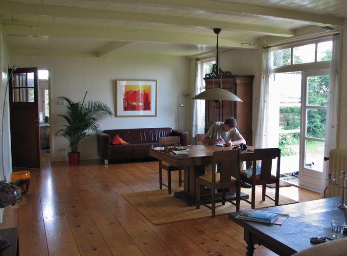 De sfeervolle woonkamer met vrij uitzicht  Foto Mart Groentjes