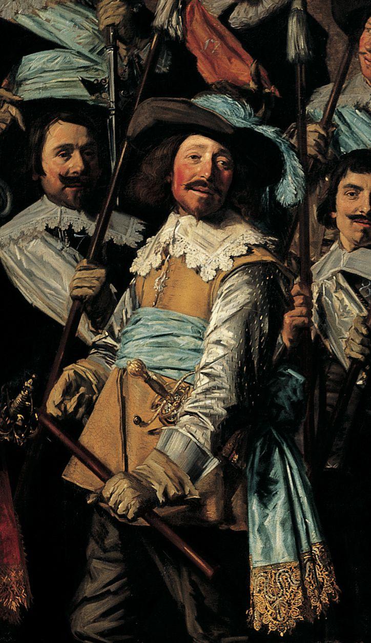 Michiel de Wael, detail van het St Jorisschutterstuk uit 1639 door Frans Hals