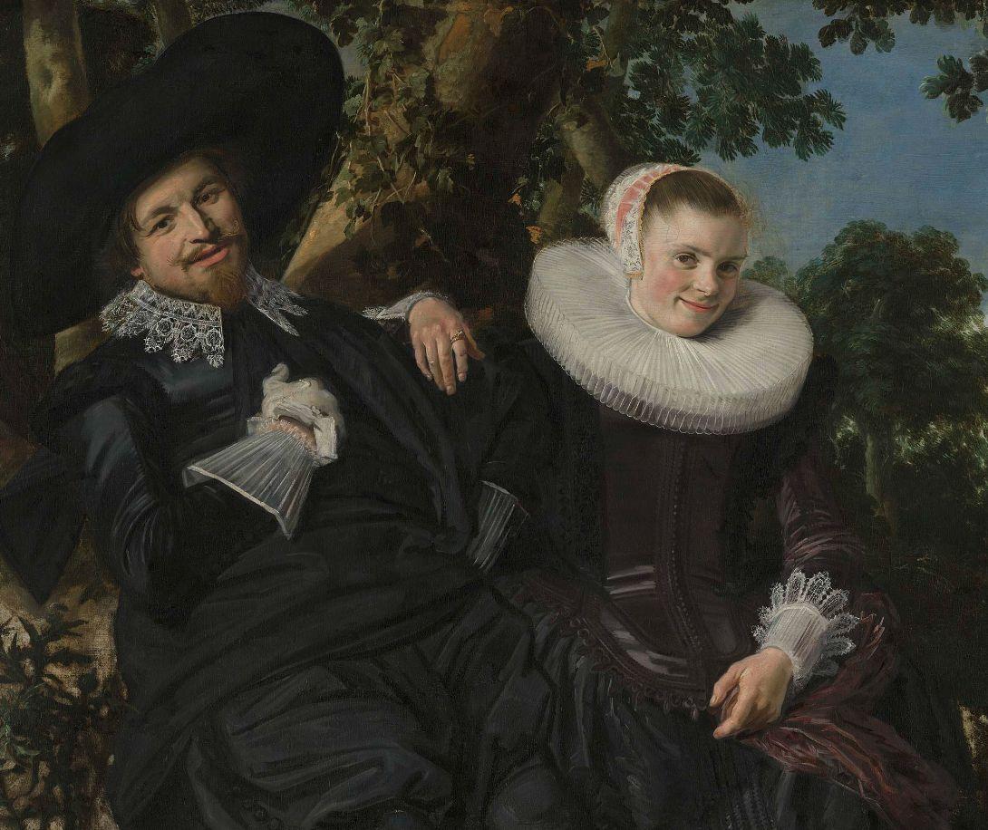 Frans Hals, Huwelijksportret van Isaac Massa en zijn vrouw (detail)
