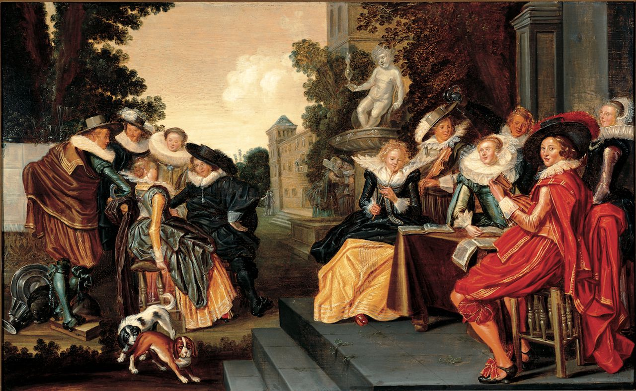 Dirck Hals, Musicerend gezelschap (1620-1625)