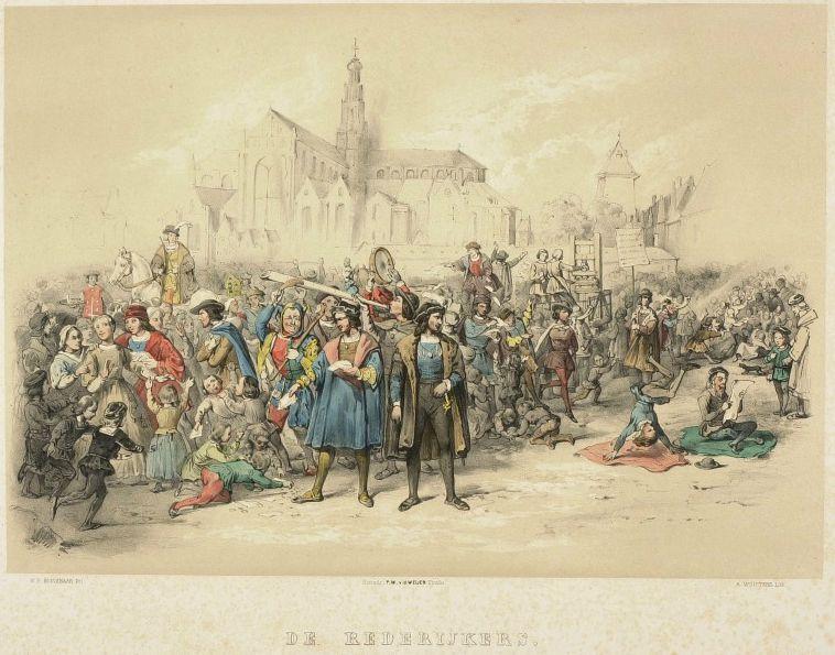 Haarlemse Rederijkers voor de Sint Bavokerk