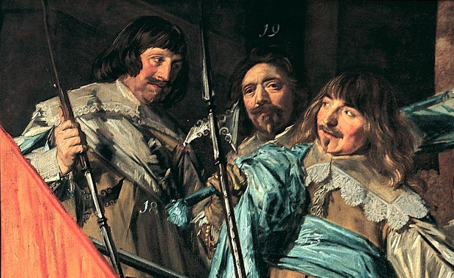 De middelste schutter is Frans Hals (detail)