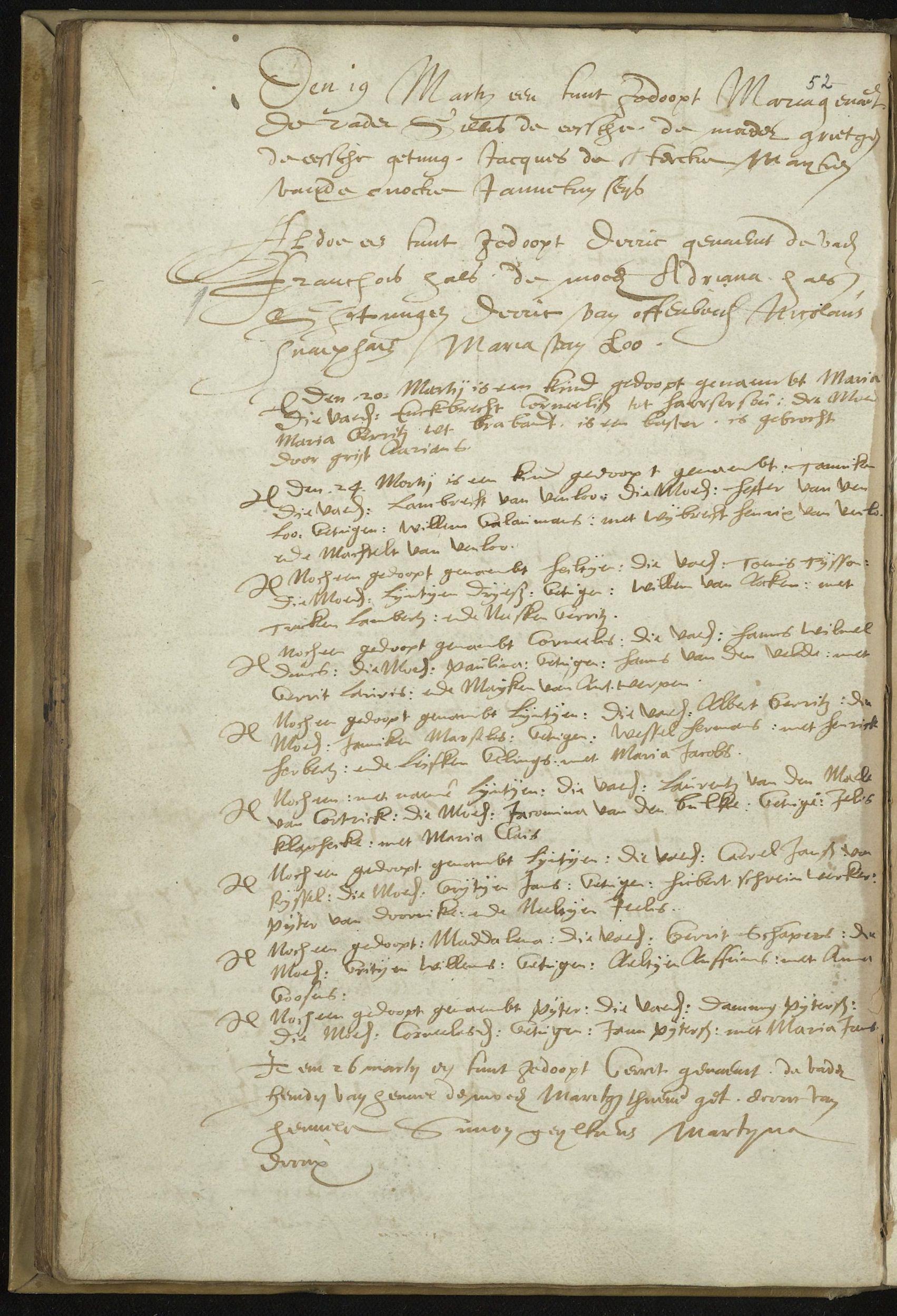 17de eeuws doopboek Nederlands Hervormde Gemeente, Haarlem