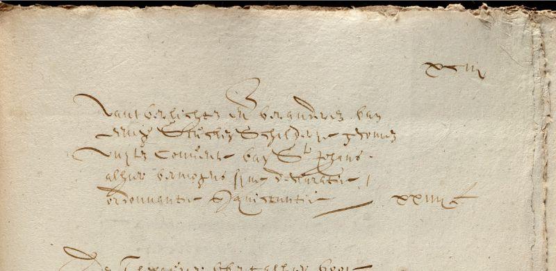 Thesauriersrekening uit 1629, inv.19/209 f.93 (detail).