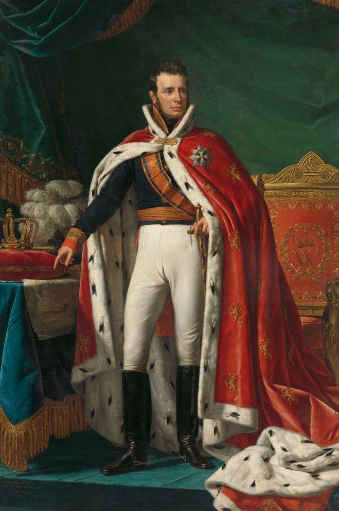 Portret van Koning Willem I door Joseph Paelinck (1819).