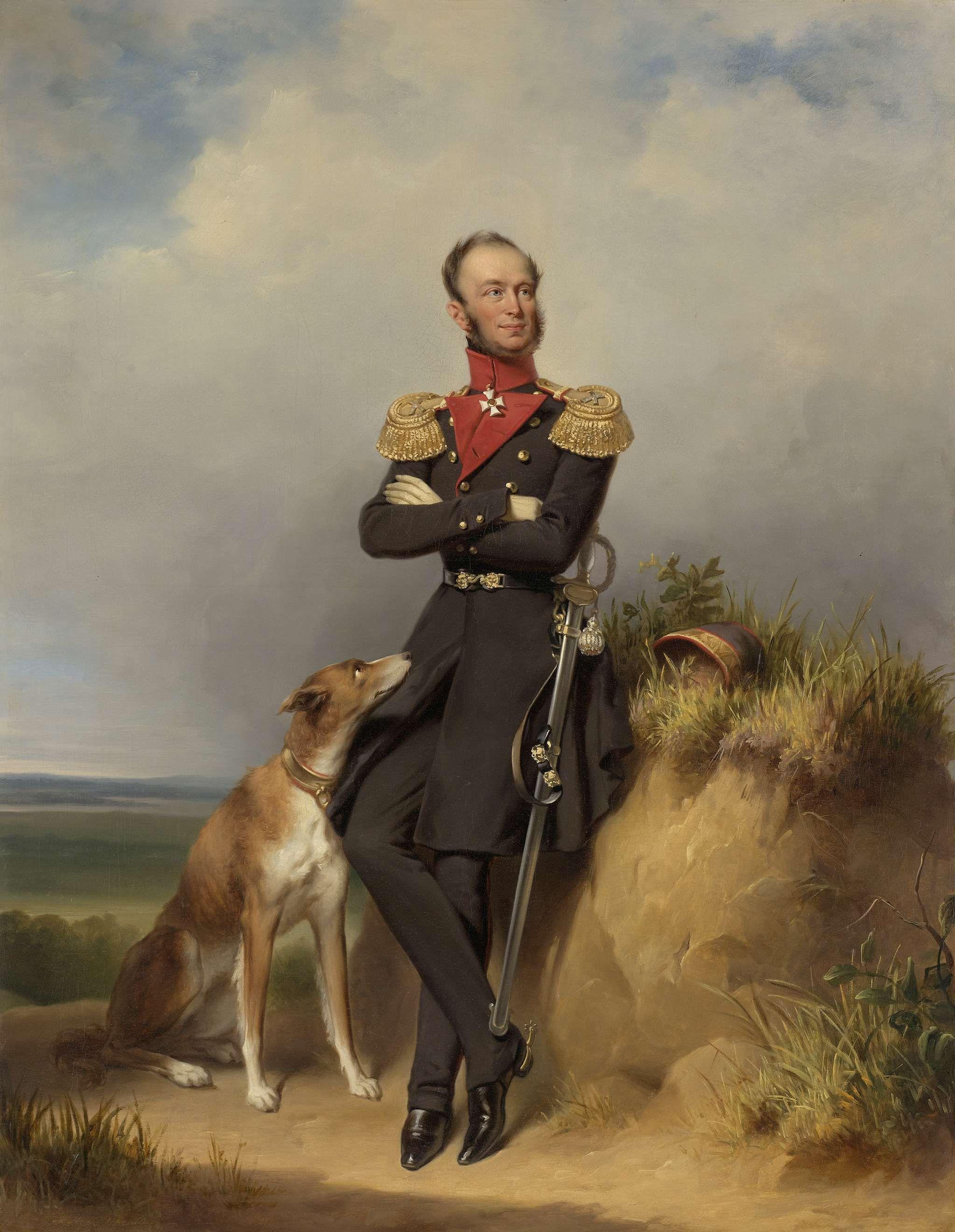 Portret van Koning Willem II door Jan Adam Kruseman (1839)