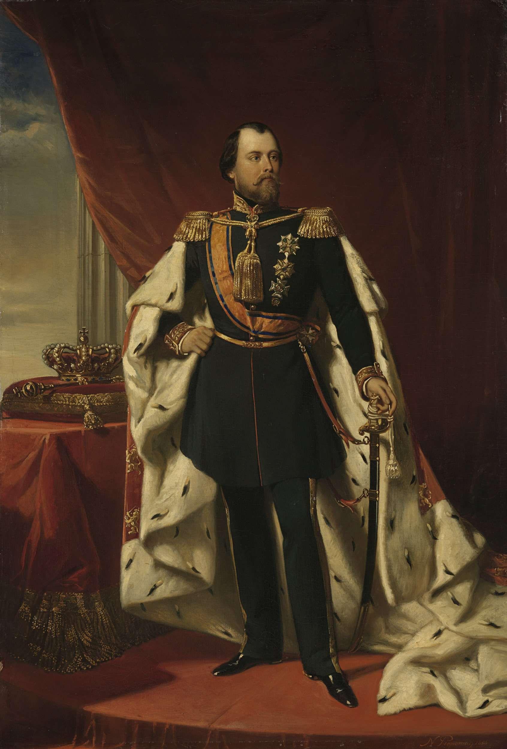 Portret van Koning Willem III door Nicolaas Pieneman (1856)