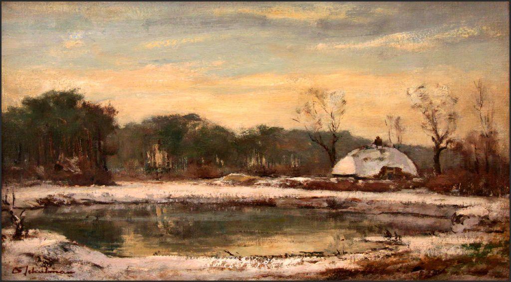 De Hut van Mie aan het Mauvezand in Laren door David Schulman (1881-1966)