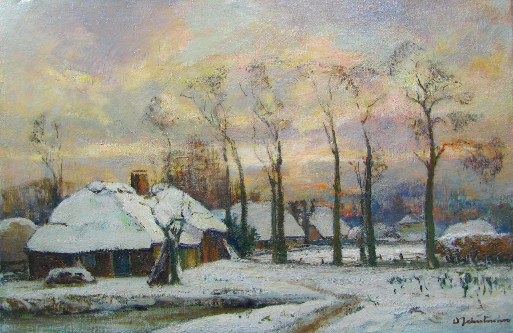 Boerderijen in Laren door David Schulman (1881-1966). Foto Zuydwal Veilingen