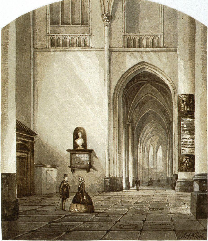 Interieur van de Sint Bavokerk.