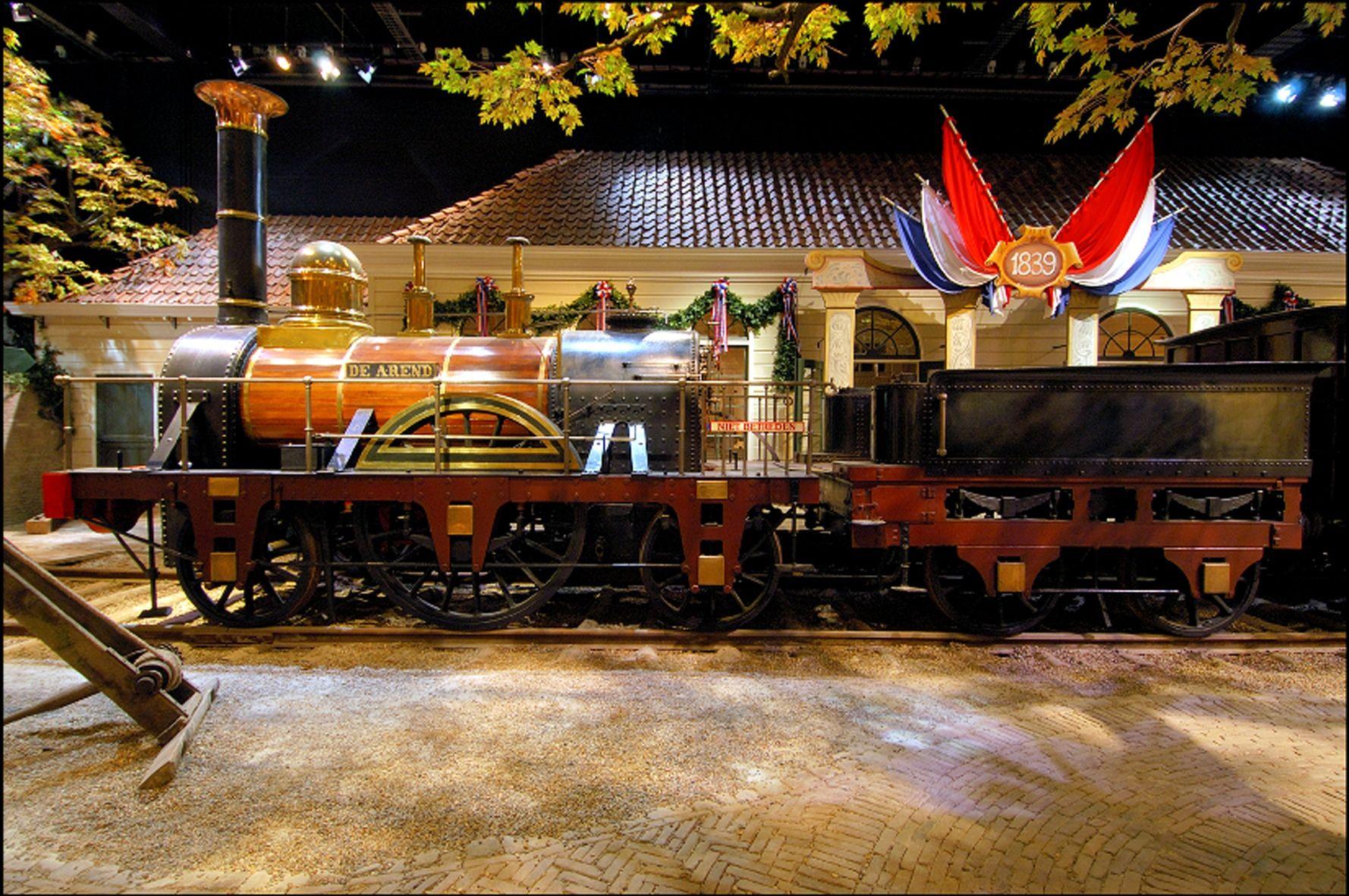 Replica van de eerste locomotief de Arend