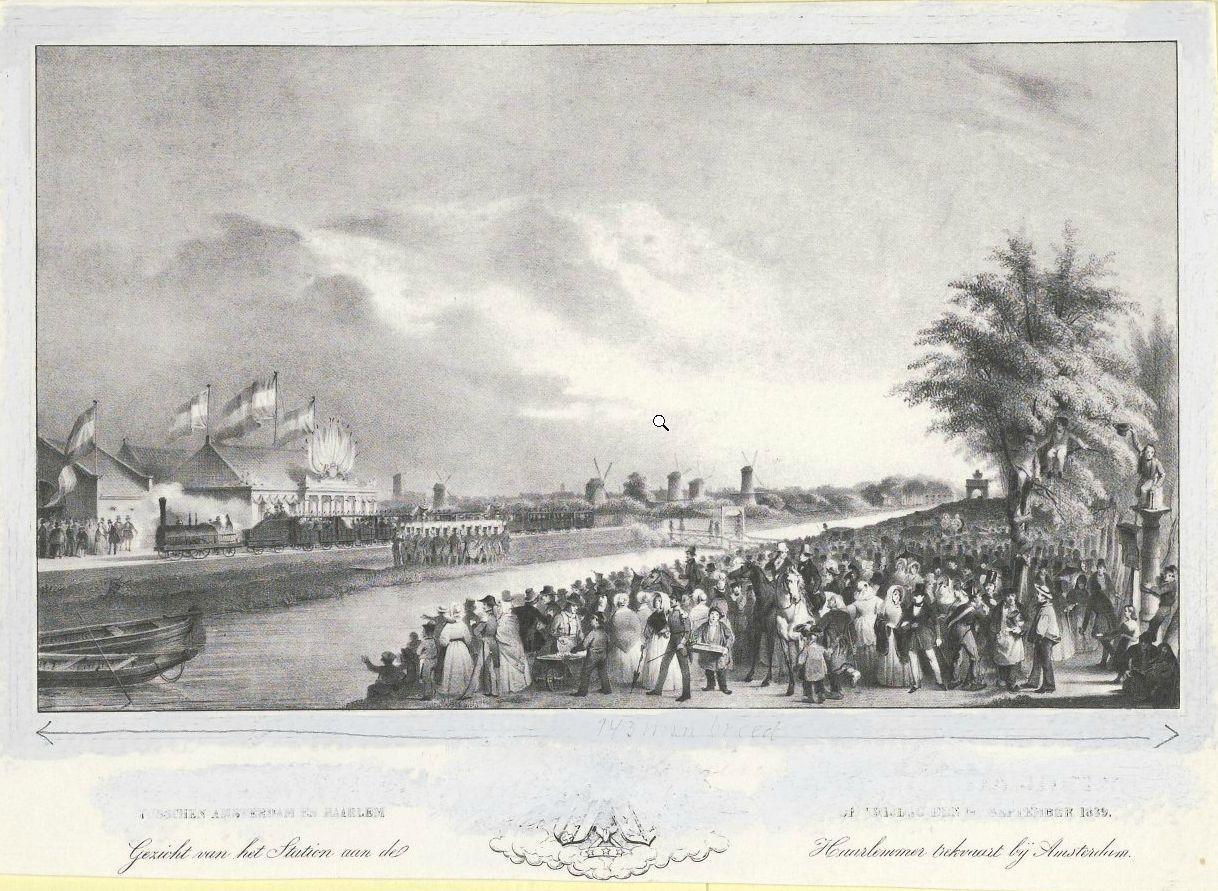 20 september 1839: de eerste Nederlandse spoorlijn, die van Amsterdam naar Haarlem v.v., wordt plechtig geopend