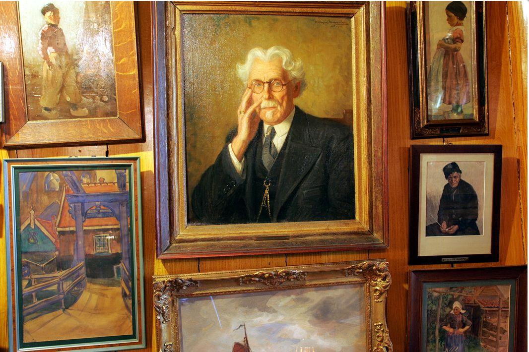 Schilderij van Leendert Spaander, oprichter van Hotel Spaander