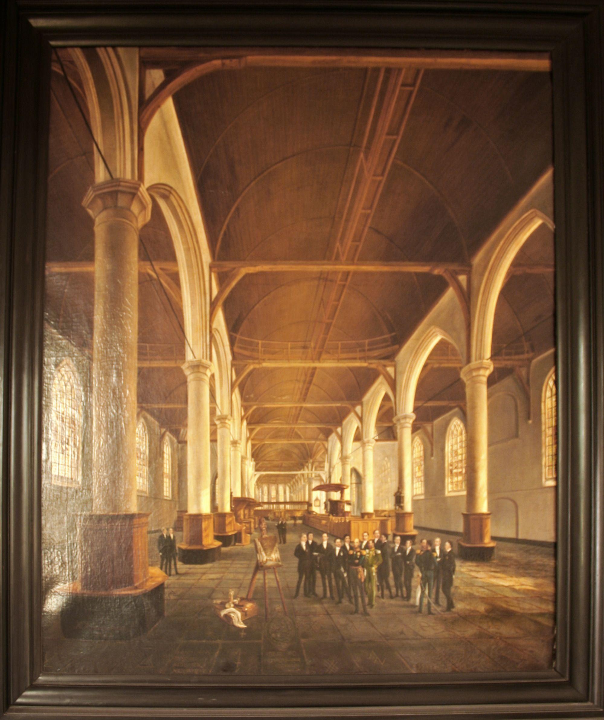 Bezoek van koning Willem II aan de Grote Kerk in Edam, 1842