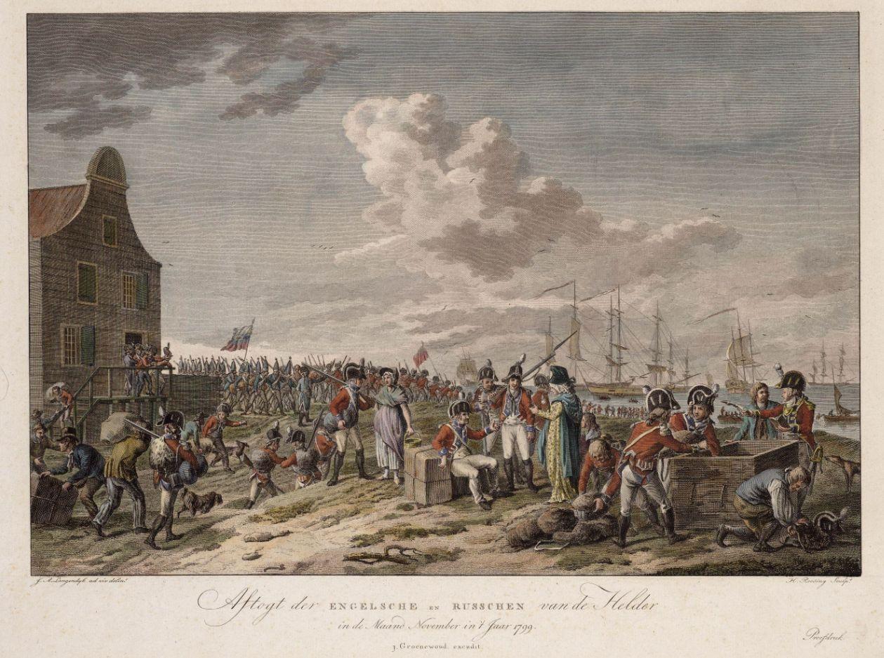 Engelse en Russische soldaten bij Den Helder, 1799