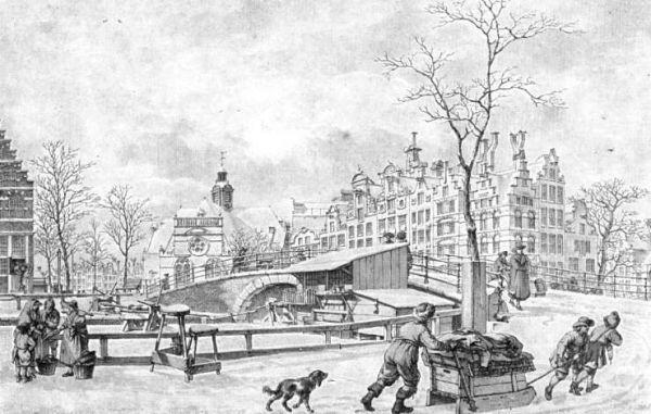 Tekening Prinsengracht 2 door Jacob Cats (1785)