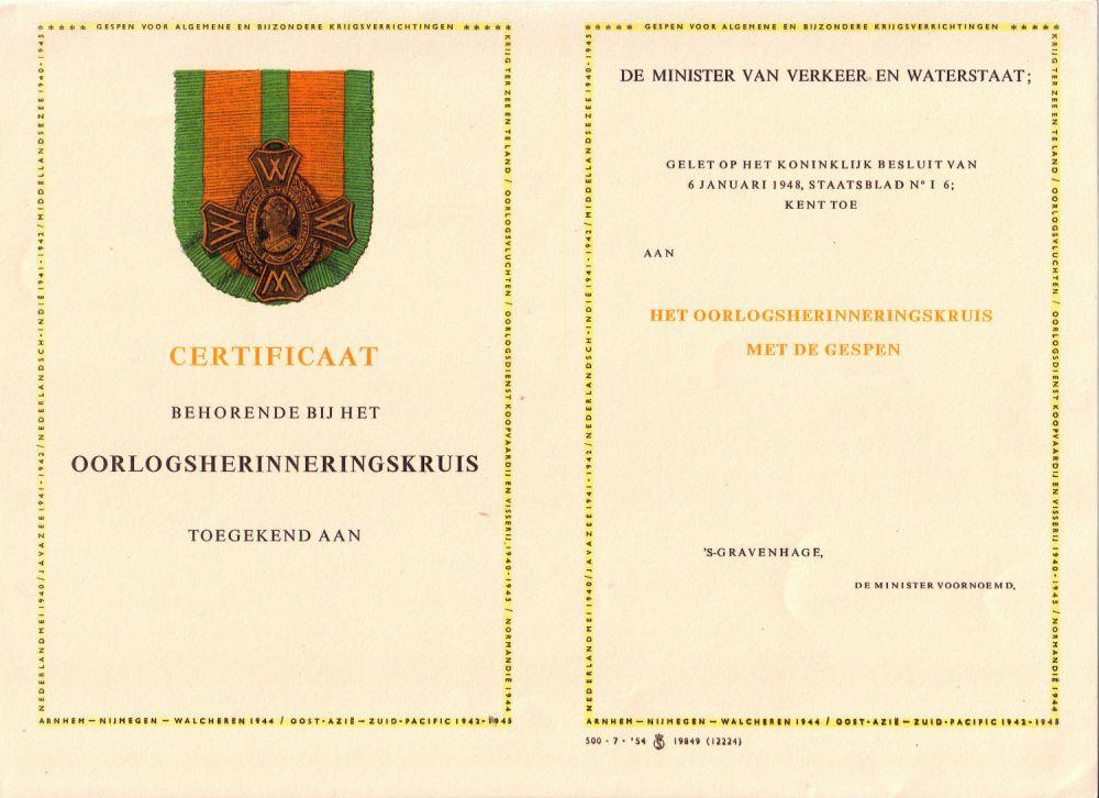 Document: Collectie H. Meurs, Zoetermeer.