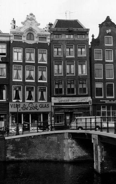 Gevel Prinsengracht 126 en 124 vóór restauratie