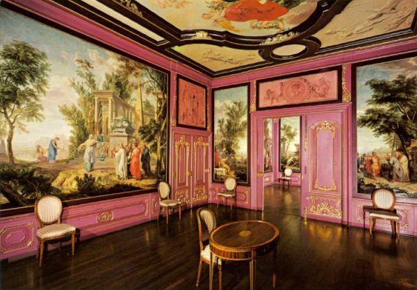 Voorkamer met beschilderde behangsels en plafondstuk, Herengracht 168
