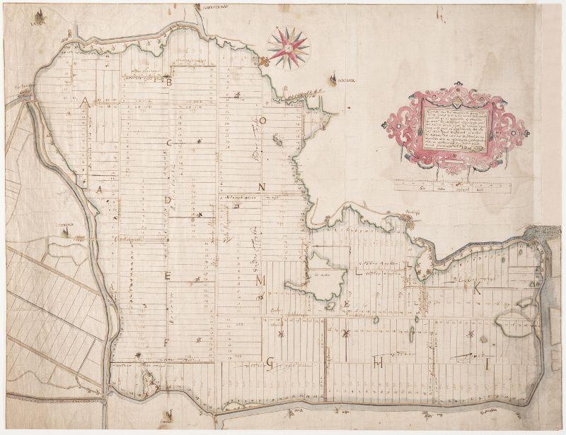 Getekende polderkaart van 1633/1635