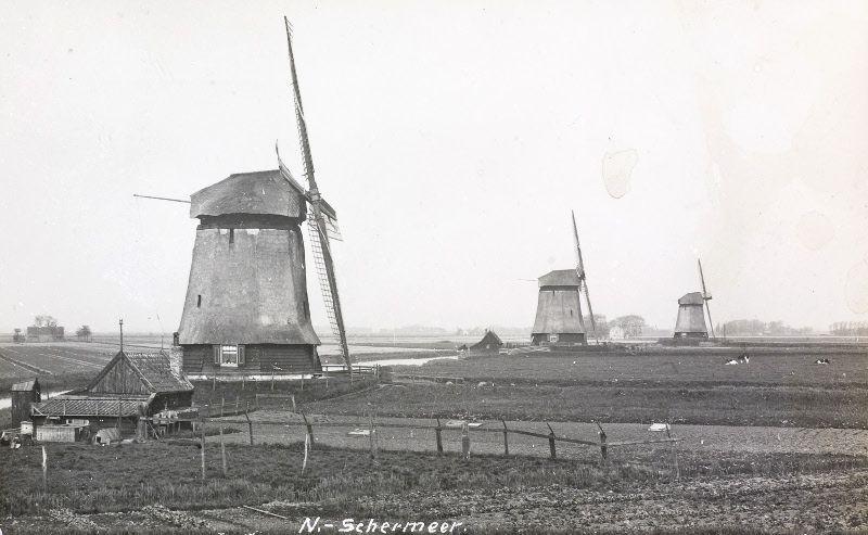 Historische foto van de ondermolens aan de Noorderring