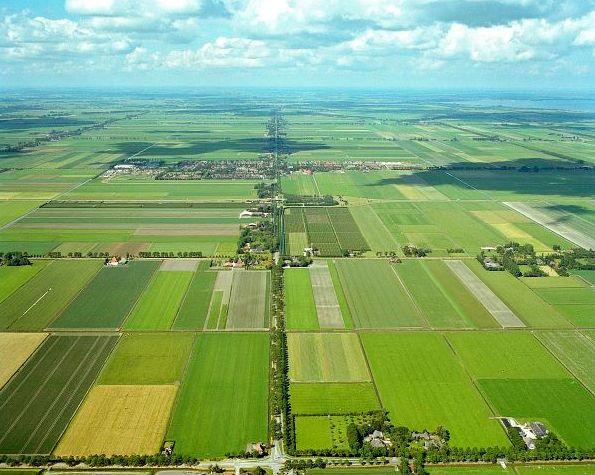 Luchtfoto van de Beemster