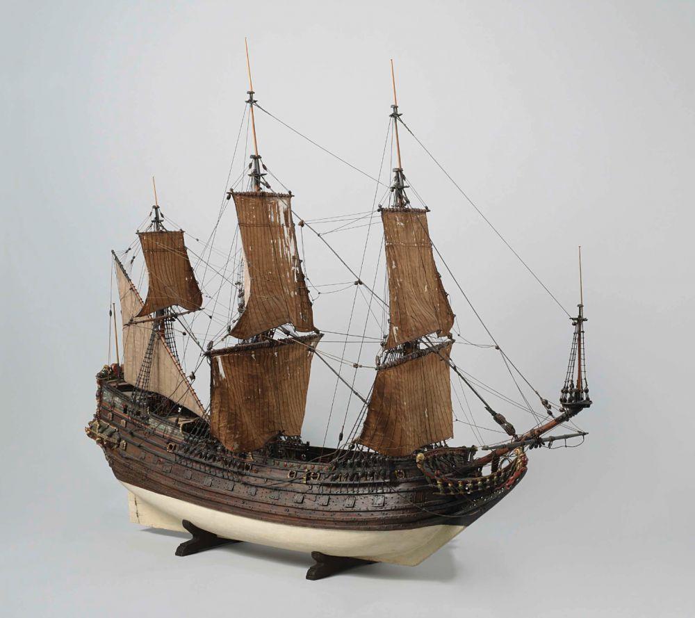 Model van het VOC schip De Prins Willem, 1651