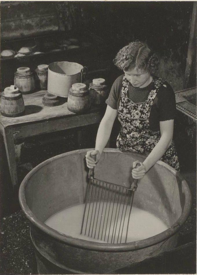Kaasmaken op de boerderij