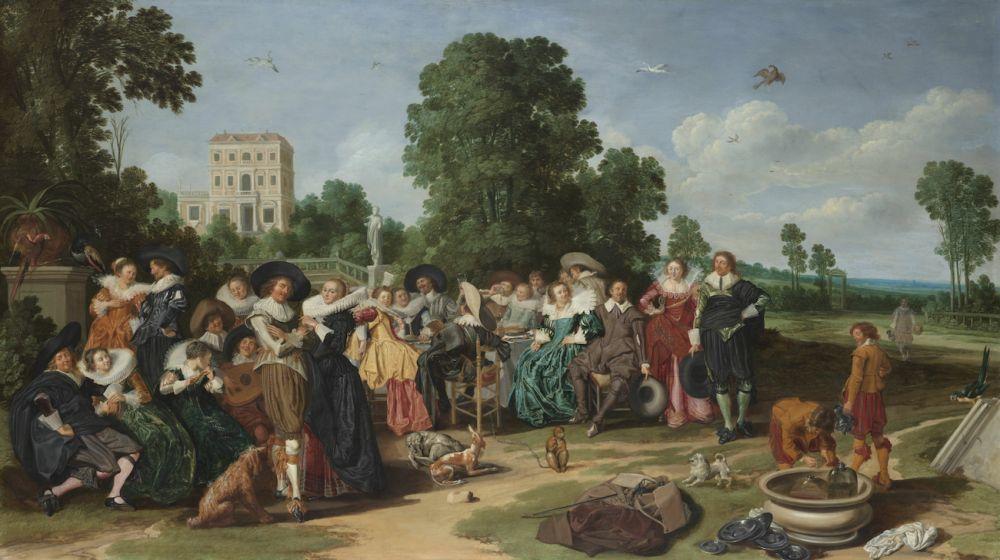De Buitenpartij, schilderij van Dirck Hals (1627)
