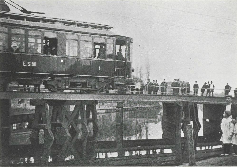 Trambrug bij de Amsterdamse Poort, Purmerend (1904).