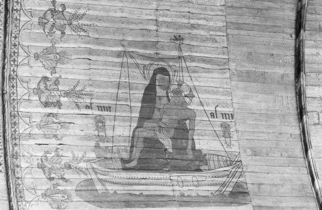 Amsterdam, Oude Kerk, Gewelfvlak met 'De pieta in een scheepje'