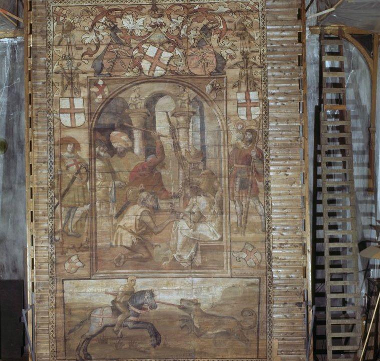 Naarden, Grote Kerk, Gewelfvlak met 'De bespotting van Christus'