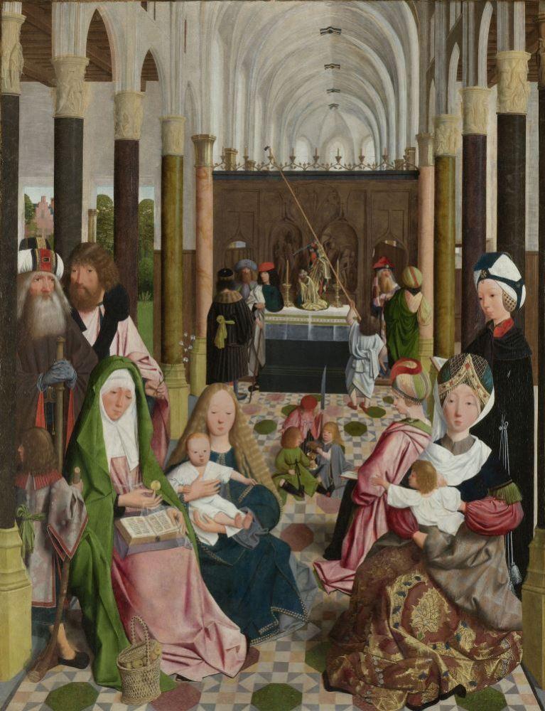 Geertgen tot Sint Jans: De heilige Maagschap, ca. 1495.