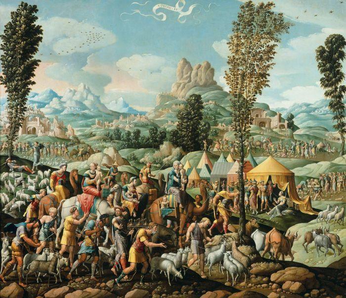 Cornelis Buys II: Jacob trekt weg bij Laban, ca. 1535.