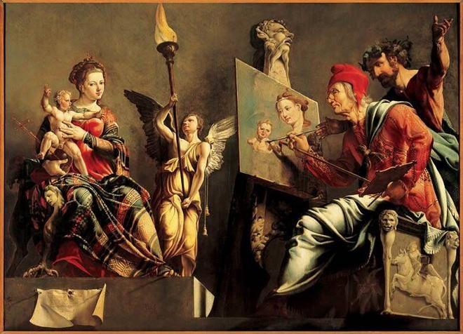 Maarten van Heemskerck: Lucas schildert de Maagd, 1532.