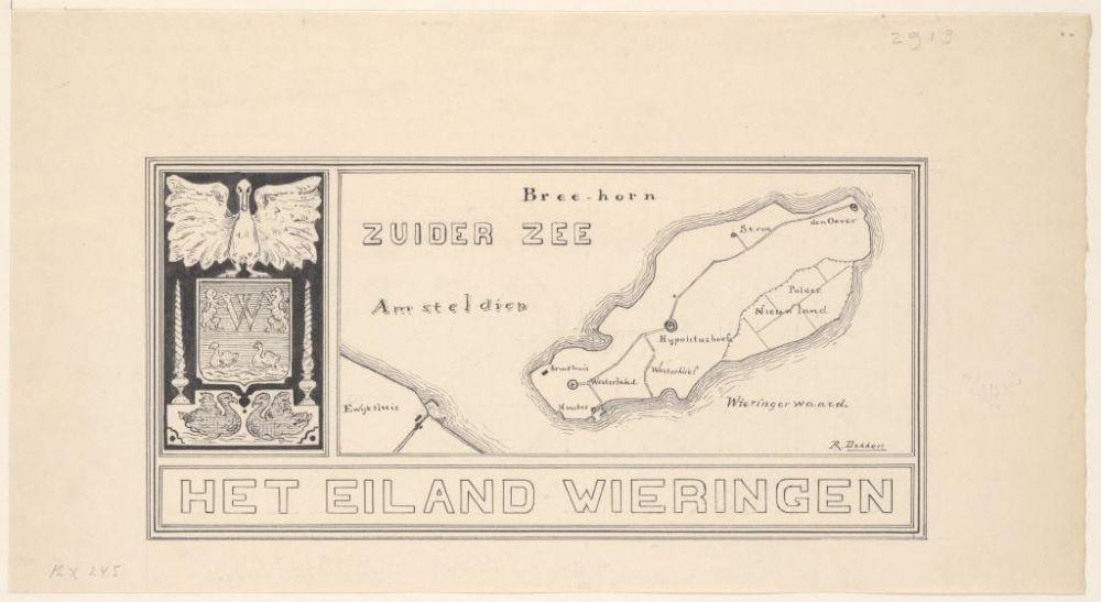 Rotganzen bij kaartje Wieringen