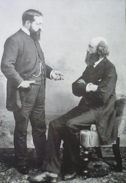 Pierre Cuypers (zittend) en Victor de Stuers in overleg.