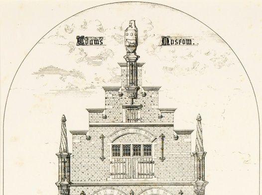De gevel van het Coopmanshuys na de restauratie van Cuypers.