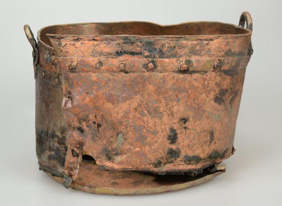 Koperen ketel uit de periode 1500-1800.