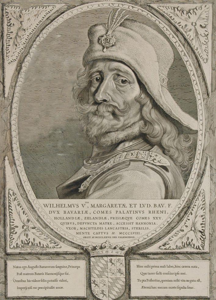 Gravure: portret van graaf Willem V.