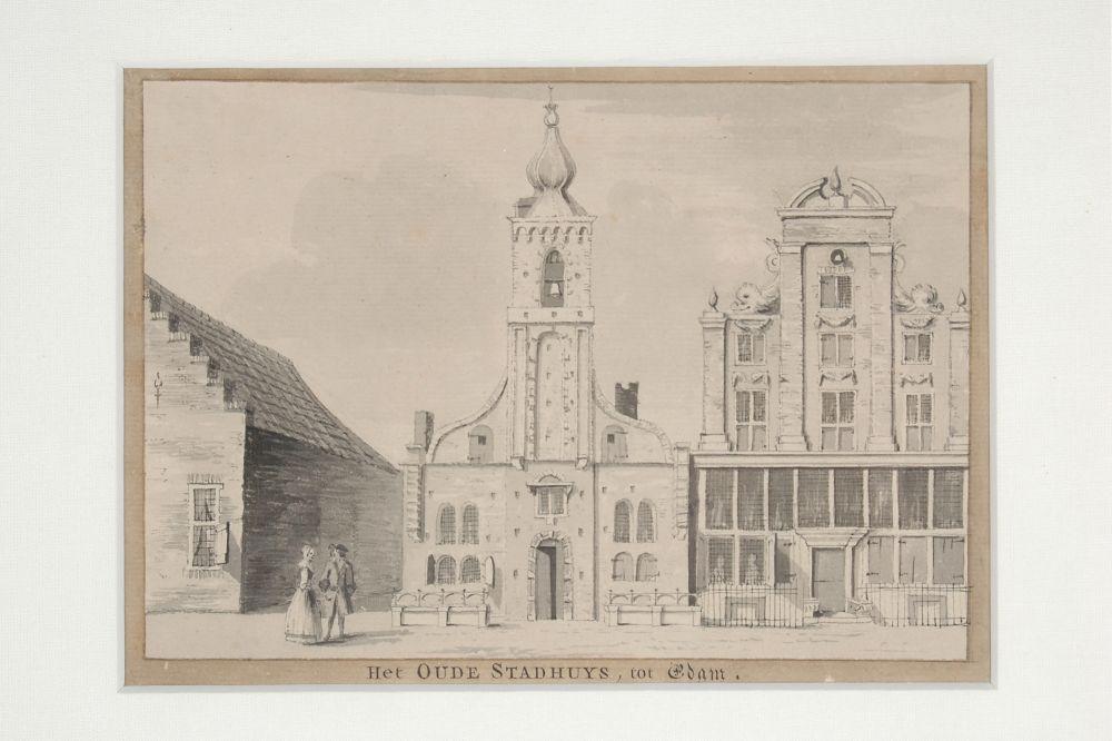 Het oude stadhuis van Edam aan de Voorhaven.