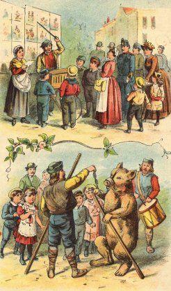 Prent van kermis, 19e eeuw.