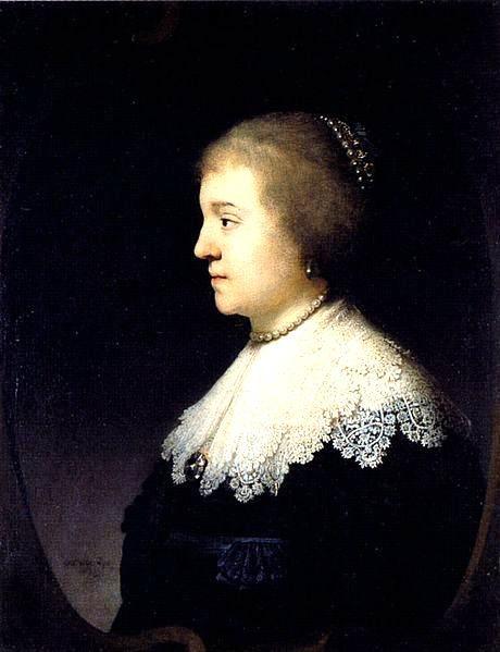 Portret van Amalia van Solms door Rembrandt, 1632.