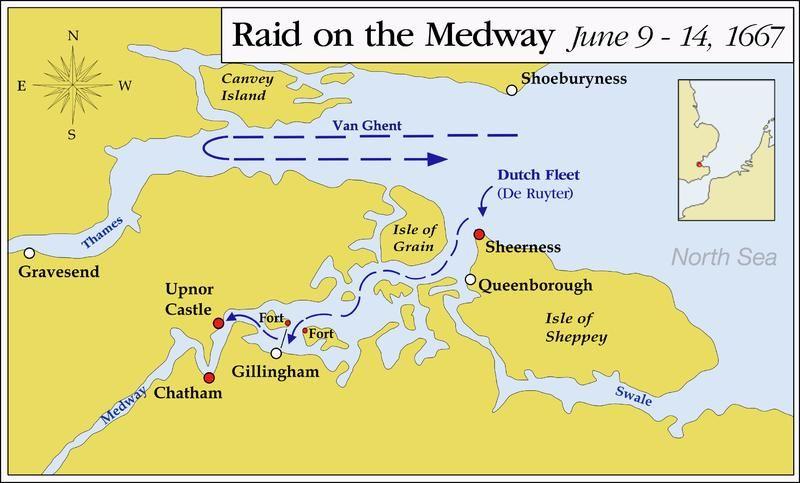 De Medway in 1667.